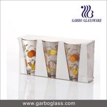 300ml V Form Wasser Trinkglas Trommeln mit Druck Design