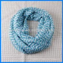 High quality print infinity chevron scarf
