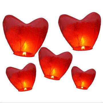 Lámparas de cielo baratas promocionales y tradicionales chinas con papel pirorretardante e ignífugo