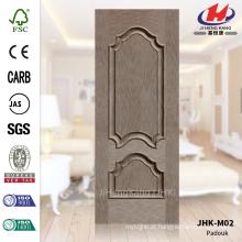 JHK-M02 em relevo painel decorativo de design linha reta HDF natural folheado porta fábrica de pele