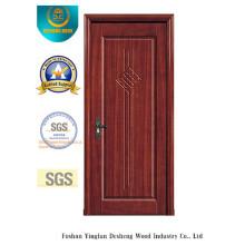 Porta chinesa do MDF da prova da água do projeto para o interior com madeira maciça (xcl-817)