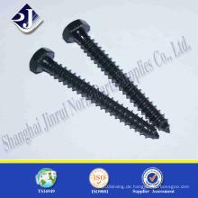 DIN571 Hex Holzschraube mit schwarzer Oberfläche