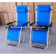 Gravedad cero silla plegable, silla plegable reclinable, silla del ocioso