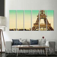 6 paneles Paris Eiffel Toalla Pinturas Luminos Colgantes de Pared