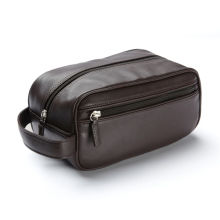Stylish Leather Dopp Kit Leather Toiletry Bag For Men