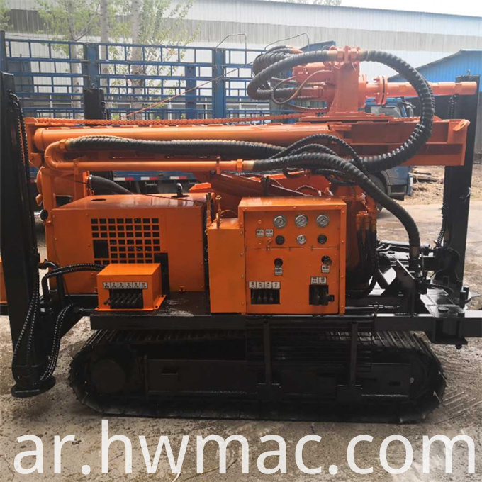 Pneumatic water drilling rig