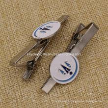 Clip de cravate en métal émaillé doux personnalisé pour hommes