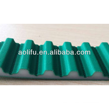 T10 PU Open Belts Green Color Fabric