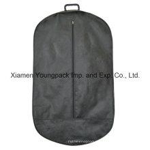 Forma ovalada no tejida traje bolsa de la cubierta con mango de plástico