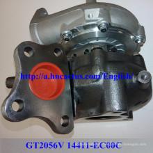 Турбокомпрессор Gt2056V 14411-Ec00c для Nissan Yd25