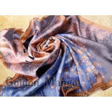 100% silk digital printing square scarf