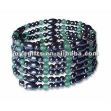 "Magnetic Averturine Beaded Wrap Bracelets & Collier 36 """