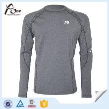 Mann-reizvolle graue Farbe Hemden Fitness-Abnutzung