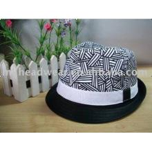 Хлопковая шляпа Fedora для девочек