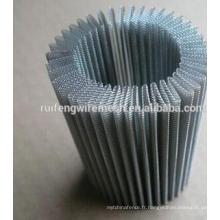 Maillage en acier plissé en acier inoxydable
