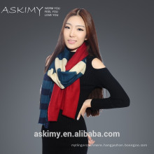 2015 Fashion cashmere wool scarf printed cashmere wool scarf