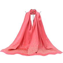 Nova moda estilo chinês Lady Long Wrap Jacquard cachecol