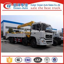 Dongfeng Kinland caminhão pesado grua montada com guindaste XCMG à venda