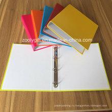 Ассортимент цветных A4 Папки для бумаг с 4-мя кольцами