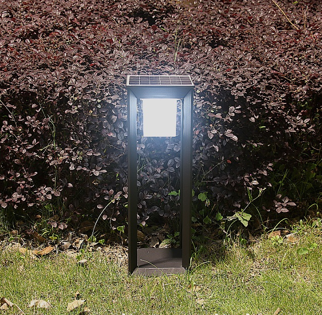 Rectangular solar garden light energy saving