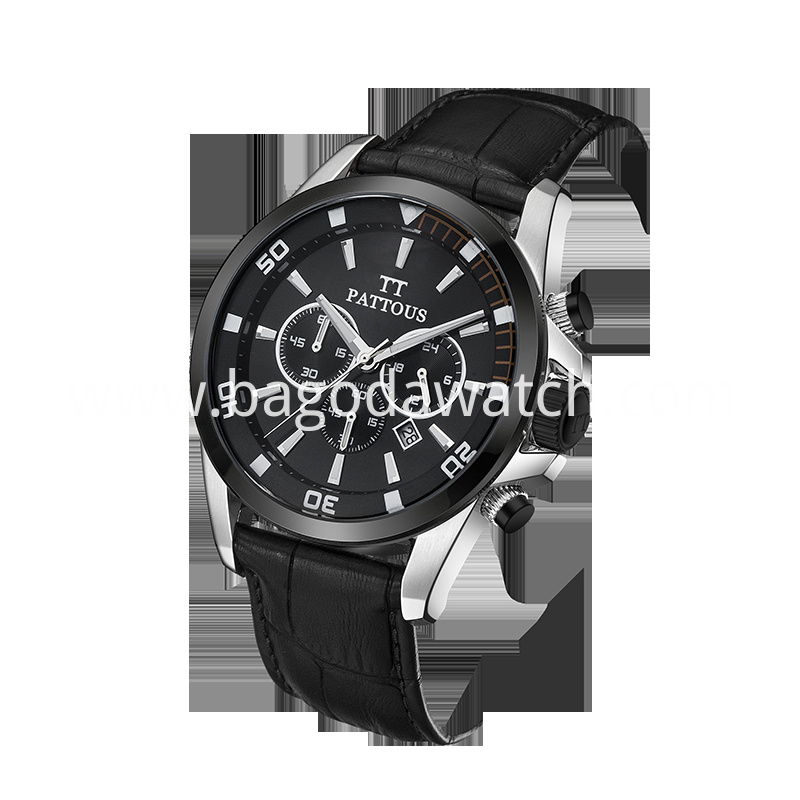 Black Stainless Steel Mens Watch