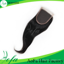 6A Grade Unprocessed 100% Virgin Cheap Human Hair Lace Closure
