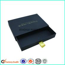 Boîte de papier de tiroir noir rigide pas cher