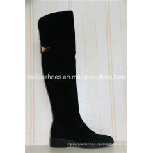 Reizvolle Art und Weise Winter-warme lange Dame Leather Boots
