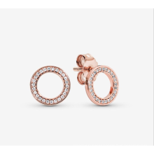 Simple round earrings female eternal halo European and American fashion earrings factory direct sales