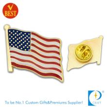 Amerika-Flaggen-Pin-Abzeichen mit Emaille in der Qualität