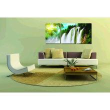 Красивый пейзаж Современный водопад Холст Печать для гостиной Декор стены