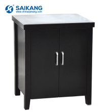 SKS012-1 Wooden Small Mobile Bedside Cabinet With 2 Doors