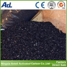 Carbón activado de carbón de cáscara de coco de gránulo
