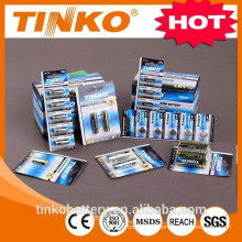 With aluminum foil package for alkaline/dry 1.5v lr6 aa battery