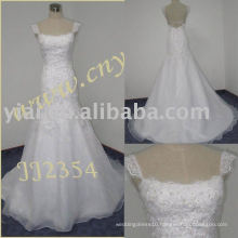 2011 latest elegant drop shippiong freight free ball gown style 2011 beaded lace mermaid wedding dress JJ2354
