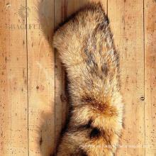 Cuello y manguito de piel cómodos para abrigos