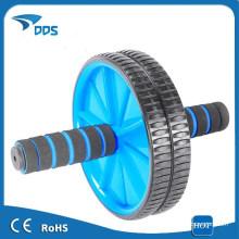 Roda dupla de Ab para Abs/Abdominal rolo exercício exercício fitness azul