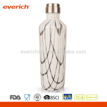 Promocional de doble pared de acero inoxidable Everich marca Vacuum frasco con revestimiento de colores
