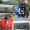 Termômetro de carne com sondas duplas para controlador de temperatura para churrasco sem fio