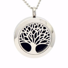 Fashion tree of life essential oil diffuser necklace pendant jewelry
