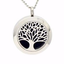 Moda árvore da vida difusor de óleo essencial colar de pingente de jóias