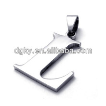 Stainless Steel Alphabet Letter charms and pendants