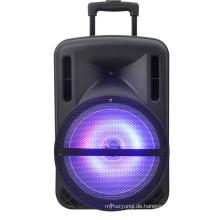 12 Zoll wiederaufladbare Lautsprecher / Bluetooth / USB / SD in / Aufnahme / Beleuchtung / Remote F12-1