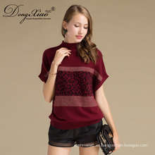 Batwing-sleeved Blusa Causal Design Pullover Cuello Redondo Cashmere Mujeres Suéter