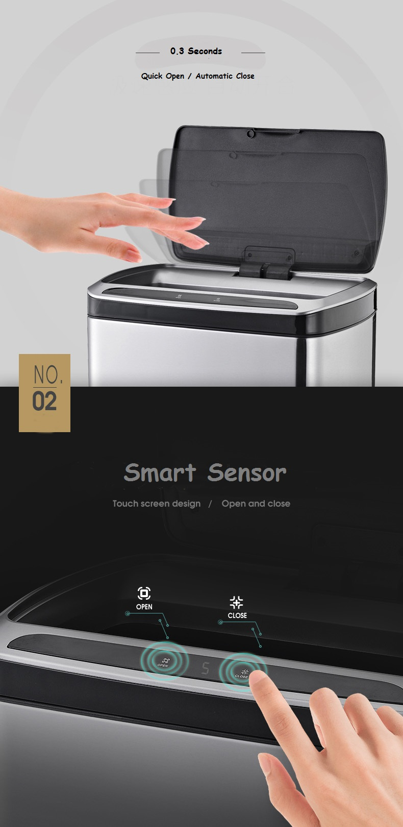 20L Automatic Sensor litter can
