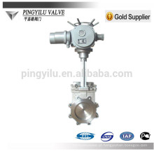 Aço carbono pn10 motorizado faca válvula de portão Z73 / 973W / Y / H-10 / 16C / P