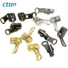 Wholesale High Quality Clothing Accessories Reversible Custom Luggage Zipper Slider Zipper Puller Bag Zipper Slider