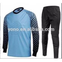 wholesale men long sleeve goalkeeper uniform , long sleeve goalkeeper soccer jersey