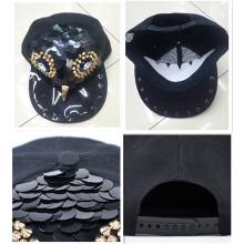 Espiga de buho hecho a mano diseño moda hiphop remache cap sombrero venta por mayor