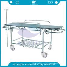 AG-HS015 Camilla médica aprobada del acero inoxidable de la transferencia de los muebles del hospital del CE